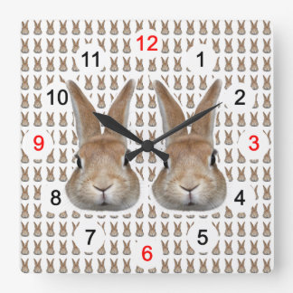 Wall-mounted clock of rabbit, No.02