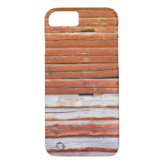 Wall of an log cabin iPhone 7 case