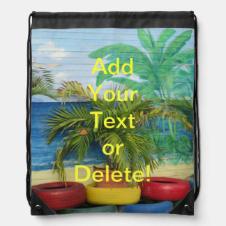 """Wall of Colors """"St. Maarten"""" Drawstring Backpack"""