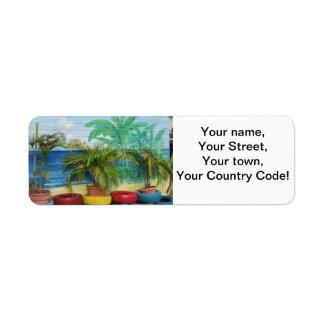 "Wall of Colors ""St. Maarten"" Return Address Label"