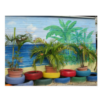 "Wall of Colors ""St. Maarten"" Postcard"