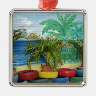 """Wall of Colors """"St. Maarten"""" Silver-Colored Square Decoration"""