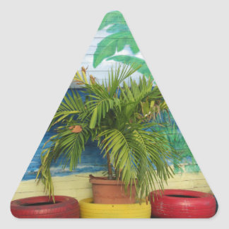 "Wall of Colors ""St. Maarten"" Triangle Sticker"