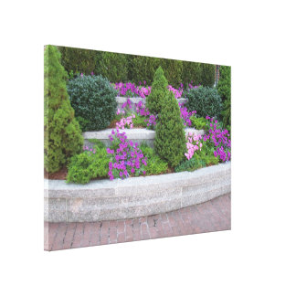 Wall of Flowers Stretched Canvas Prints
