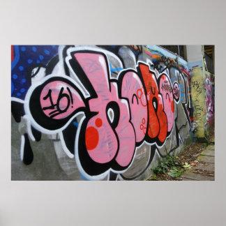Wall Of Graffiti Poster