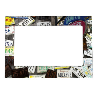 Wall of License Plates Magnetic Picture Frame