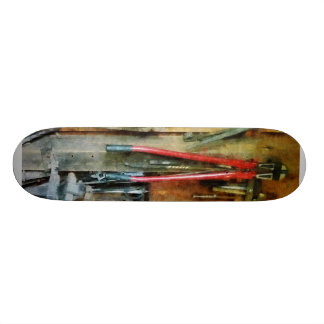 Wall of Tools and Shop Apron Custom Skateboard
