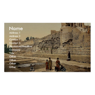 Wall over which St. Paul escaped, Damascus, Holy L Business Card Template