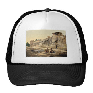 Wall over which St. Paul escaped, Damascus, Holy L Trucker Hat