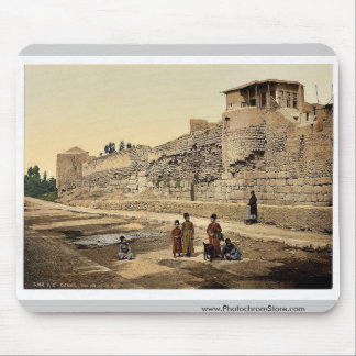 Wall over which St. Paul escaped, Damascus, Holy L Mousepads