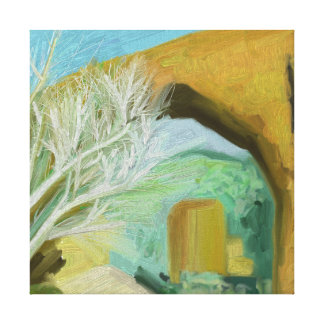 Wall Painting Stretched Canvas Print
