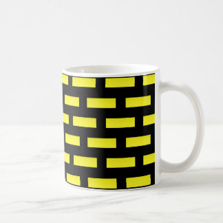 Wall Pattern Black and Yellow Coffee Mug