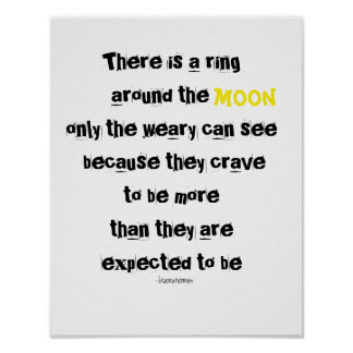 Wall Poster Only the Weary Can See Inspire