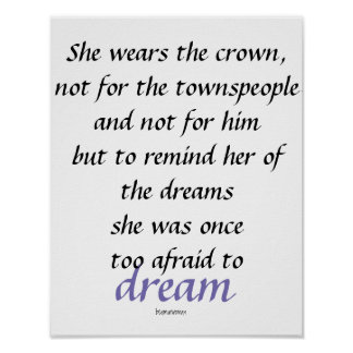Wall Poster She Wears The Crown Quotes