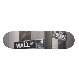 wall st. and broadway by lensgerrit skate board