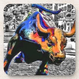 Wall St. Bull Drink Coaster
