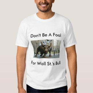 Wall St. Greed Tee Shirts