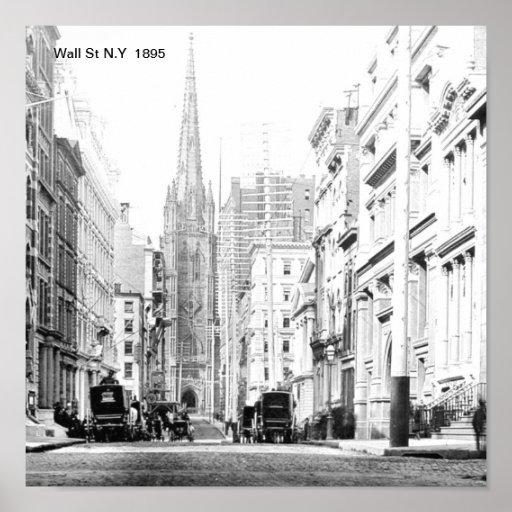 Wall St N.Y  Print