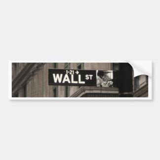 Wall St New York Bumper Sticker