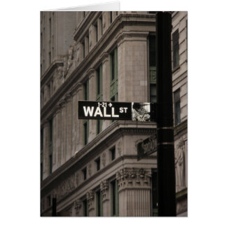Wall St New York Greeting Cards