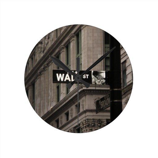 Wall St New York Clocks