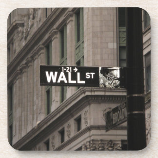 Wall St New York Drink Coaster