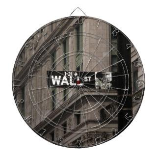 Wall St New York Dartboard With Darts