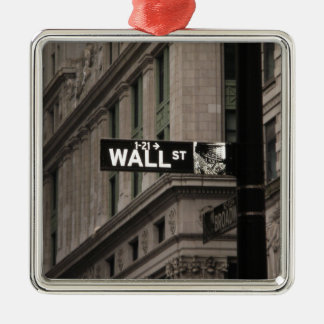 Wall St New York Christmas Tree Ornament