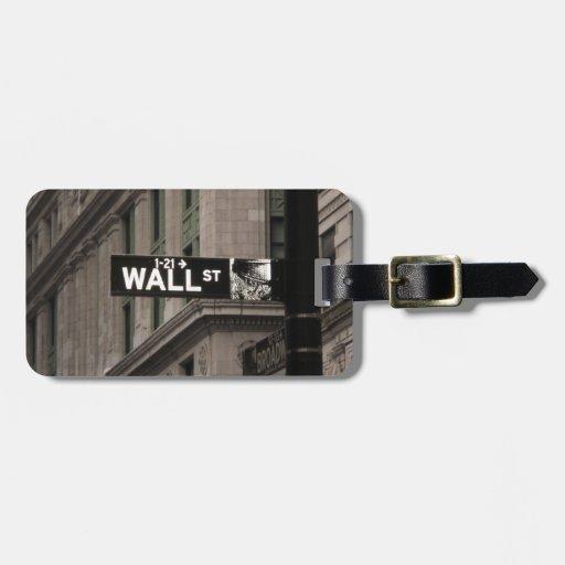 Wall St New York Bag Tag