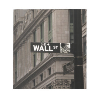 Wall St New York Memo Notepads