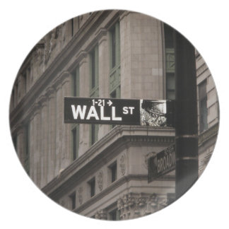 Wall St New York Party Plate