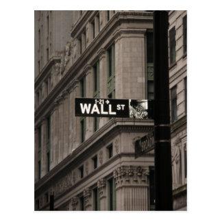 Wall St New York Postcards