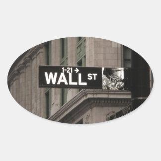 Wall St New York Oval Sticker