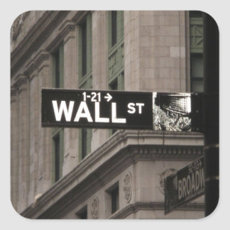 Wall St New York Stickers