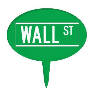 Wall St., New York Street Sign Cake Pick