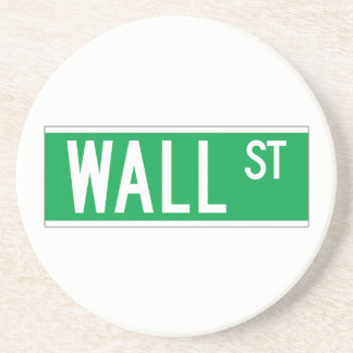Wall St., New York Street Sign Coasters