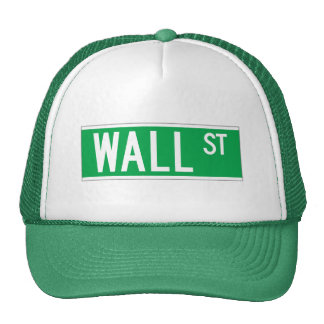 Wall St., New York Street Sign Hats