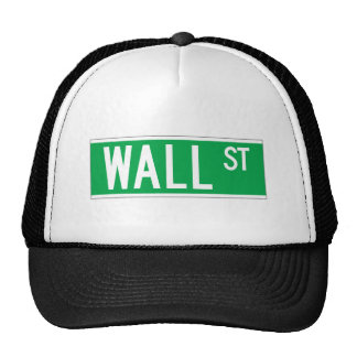 Wall St., New York Street Sign Trucker Hat