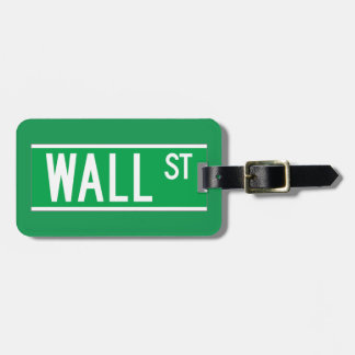 Wall St., New York Street Sign Luggage Tags