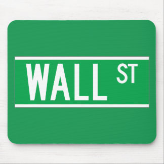 Wall St., New York Street Sign Mouse Pads