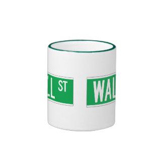 Wall St., New York Street Sign Mug