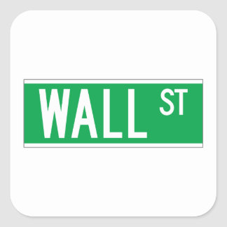 Wall St., New York Street Sign Square Sticker
