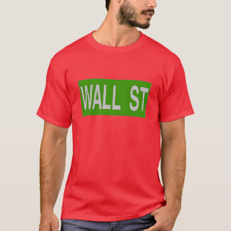 WALL ST Sign, NYC T-Shirt