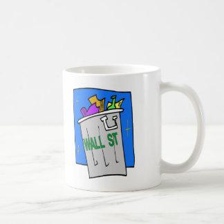 Wall St Trash Can Classic White Coffee Mug