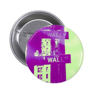 Wall Street - ウォール街 - stock market Pinback Button