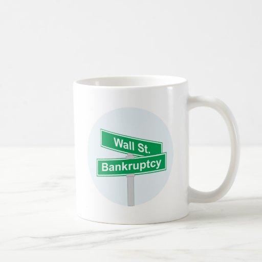 Wall Street Bankruptcy - Occupy Wall Street Sign Coffee Mug