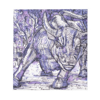 wall street bull notepad