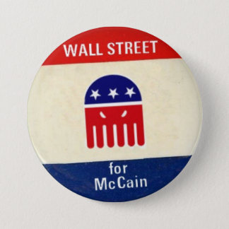 Wall Street for McCain Button