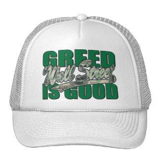 Wall Street Greed is Good Trucker Hat