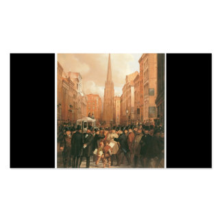 Wall Street, Half Past Two O'Clock 1857 Pack Of Standard Business Cards